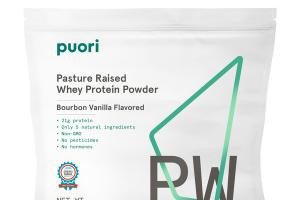 BOURBON VANILLA FLAVORED PASTURE RAISED WHEY PROTEIN POWDER