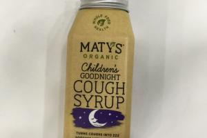 Organic Children's Goodnight Cough Syrup Dietary Supplement