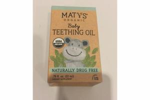 ORGANIC BABY TEETHING OIL DIETARY SUPPLEMENT