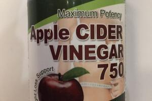 Maximum Potency Apple Cider Vinegar 750 Dietary Supplement