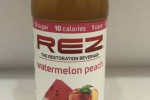 WATERMELON PEACH GLUCOSAMINE AND TURMERIC ANTIOXIDANTS & ELECTROLYTES THE RESTORATION BEVERAGE