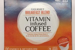 Gourmet Breakfast Blend Vitamin Infused Coffee