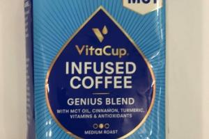 MEDIUM ROAST GENIUS BLEND WITH MCT OIL, CINNAMON, TURMERIC, VITAMINS & ANTIOXIDANTS INFUSED COFFEE