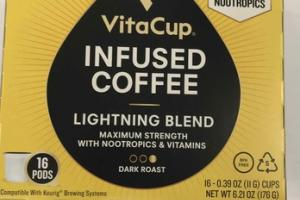 DARK ROAST LIGHTNING BLEND INFUSED COFFEE 16 PODS