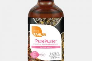 REDUCES STAINING ALCOHOL-FREE LIQUID SHEPHERD'S PURSE HERBAL DIETARY SUPPLEMENT