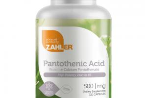 PANTOTHENIC ACID 500 MG DIETARY SUPPLEMENT CAPSULES