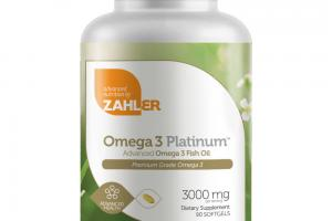 ADVANCED OMEGA 3 PLATINUM FISH OIL DIETARY SUPPLEMENT SOFTGELS