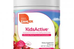 FRUIT PUNCH FLAVOR KIDSACTIVE CHILDREN'S HEALTH PROMOTES MENTAL FOCUS AND CONCENTRATION DIETARY SUPPLEMENT
