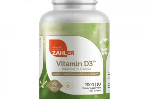 ADVANCED D3 FORMULA SUPPORTS HEALTHY BONES AND IMMUNE SYSTEM DIETARY SUPPLEMENT SOFTGELS