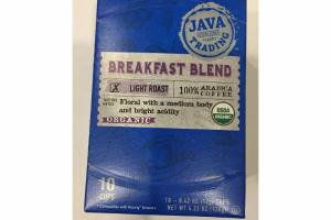 ORGANIC LIGHT ROAST BREAKFAST BLEND 100% ARABICA COFFEE