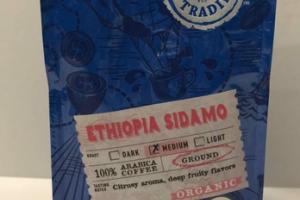ORGANIC ETHIOPIA SIDAMO MEDIUM GROUND 100% ARABICA COFFEE