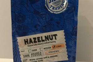 LIGHT HAZELNUT GROUND NUTTY AROMA AND A SMOOTH CREAMY BODY 100% ARABICA COFFEE