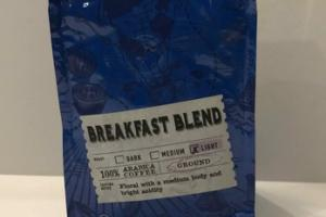 LIGHT GROUND BREAKFAST BLEND 100% ARABICA COFFEE