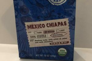 ORGANIC MEDIUM MEXICO CHIAPAS ARABICA GROUND COFFEE