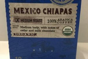 MEXICO CHIAPAS MEDIUM ROAST ORGANIC 100% ARABICA COFFEE