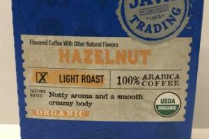 ORGANIC HAZELNUT LIGHT ROAST 100% ARABICA COFFEE