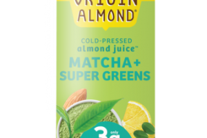 MATCHA + SUPER GREENS GREEN VITALITY COLD-PRESSED ALMOND JUICE BEVERAGE
