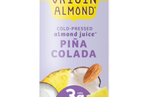 PINA COLADA COCONUT REFRESHER COLD-PRESSED ALMOND JUICE BEVERAGE