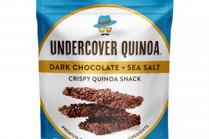 Dark Chocolate + Sea Salt Crispy Quinoa Snack