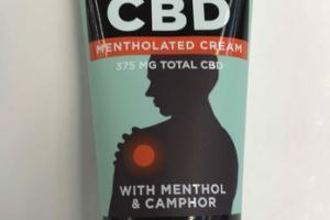 CBD+ MENTHOLATED CREAM TOPICAL CANNABIDIOL WITH MENTHOL & CAMPHOR