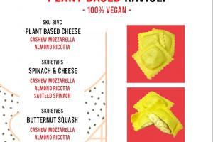 Plant Based Cheese Ravioli