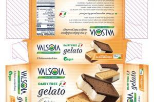 ALMOND MILK DAIRY FREE GELATO NON-DAIRY FROZEN DESSERT SANDWICH BARS