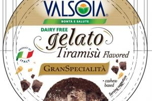 TIRAMISU FLAVORED CREAMY, INDULGENT GELATO WITH PIECES OF COOKIE & DUSTED WITH COCOA POWDER NON DAIRY FROZEN DESSERT