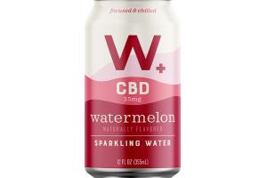WATERMELON CBD 25MG SPARKLING WATER