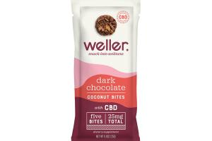 DARK CHOCOLATE COCONUT WITH CBD SNACK BITES