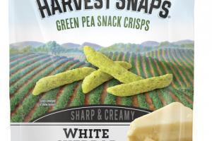WHITE CHEDDAR FLAVORED SHARP & CREAMY GREEN PEA SNACK CRISPS