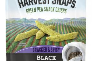 BLACK PEPPER CRACKED & SPICY GREEN PEA SNACK CRISPS