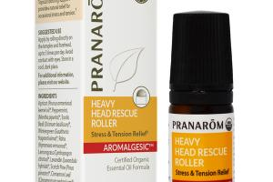 HEAVY HEAD RESCUE ROLLER STRESS & TENSION RELIEF AROMALGESIC ESSENTIAL OIL FORMULA