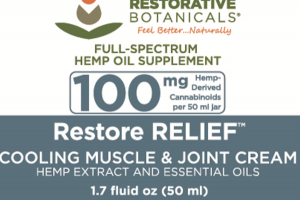 RESTORE RELIEF COOLING MUSCLE & JOINT CREAM HEMP EXTRACT AND ESSENTIAL OILS FULL-SPECTRUM HEMP OIL SUPPLEMENT