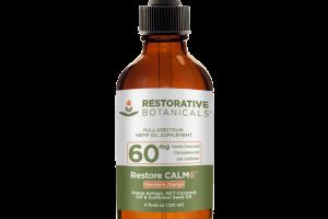 RESTORE CALM6 FULL-SPECTRUM HEMP OIL 60MG DIETARY SUPPLEMENT MANDARIN ORANGE