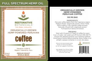 MEDIUM ROAST ORGANICALLY-GROWN HEMP-POWERED PERUVIAN 100% ARABICA WHOLE BEAN COFFEE