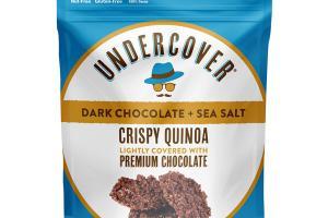 DARK CHOCOLATE + SEA SALT CRISPY QUINOA LIGHTLY COVERED WITH PREMIUM CHOCOLATE