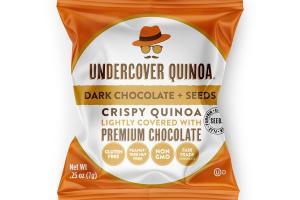 DARK CHOCOLATE + SEEDS CRISPY QUINOA LIGHTLY COVERED WITH PREMIUM CHOCOLATE