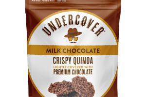 MILK CHOCOLATE CRISPY QUINOA LIGHTLY COVERED WITH PREMIUM CHOCOLATE