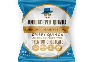 DARK CHOCOLATE + SEA SALT CRISPY QUINOA LIGHTLY COVERED WITH PREMIUM CHOCOLATE