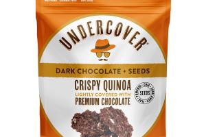 DARK CHOCOLATE + SEEDS CRISPY QUINOA LIGHTLY COVERED WITH PREMIUM CHOCOLATE