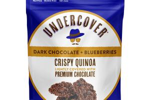 DARK CHOCOLATE + BLUEBERRIES CRISPY QUINOA LIGHTLY COVERED WITH PREMIUM CHOCOLATE