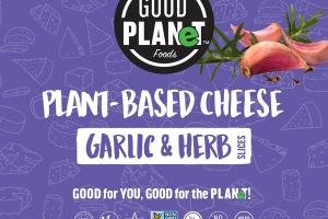 PLANT-BASED GARLIC & HERB CHEESE SLICES