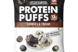 COOKIES & CREAM FLAVORED PROTEIN PUFFS