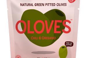 CHILI & OREGANO NATURAL GREEN PITTED OLIVES