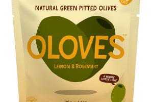 LEMON & ROSEMARY NATURAL GREEN PITTED OLIVES