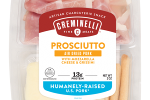 PROSCIUTTO AIR DRIED PORK WITH MOZZARELLA CHEESE & GRISSINI ARTISAN CHARCUTERIE SNACK