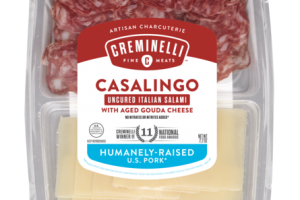 CASALINGO UNCURED ITALIAN SALAMI WITH AGED GOUDA CHEESE ARTISAN CHARCUTERIE SNACK
