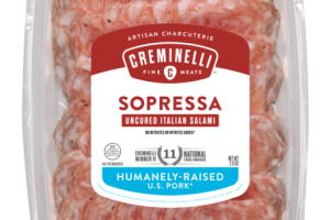 SOPRESSA UNCURED ITALIAN SALAMI INFUSED WITH WINE AND ORGANIC GARLIC ARTISAN CHARCUTERIE SNACK