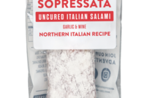 SOPRESSATA GARLIC & WINE UNCURED ITALIAN SALAMI