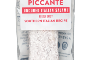 PICCANTE MILDLY SPICY SOUTHERN ITALIAN RECIPE UNCURED ITALIAN SALAMI